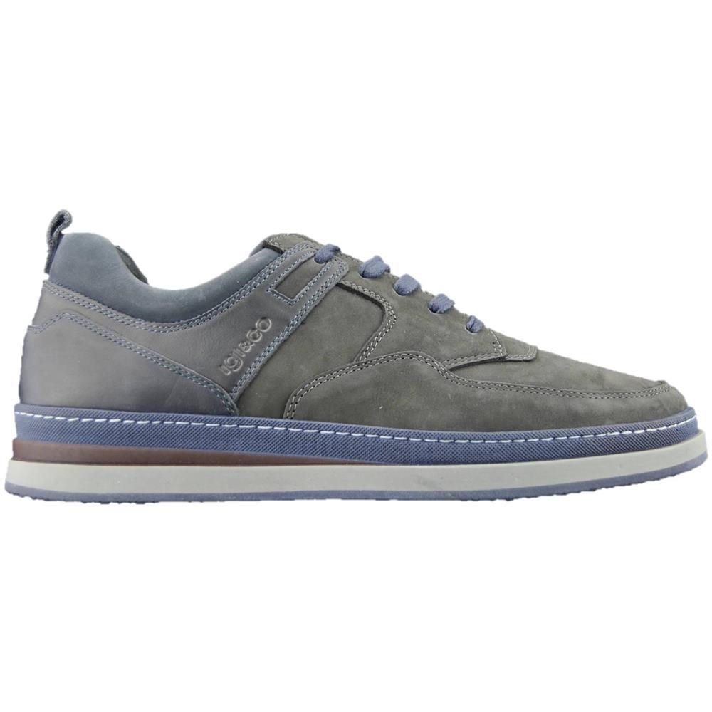 Igi co 2134000 Sneakers Basse Scarpe Casual Uomo In Pelle Nabuk Grigio 40.  Zoom a2399509ea6