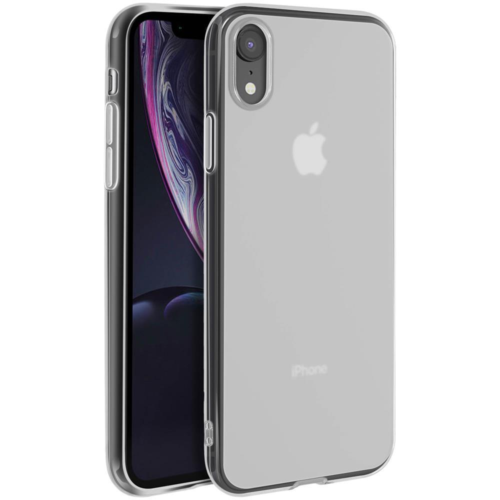 Avizar - Cover Iphone Xr Silicone Gel Morbido Contorno Glossy Nera