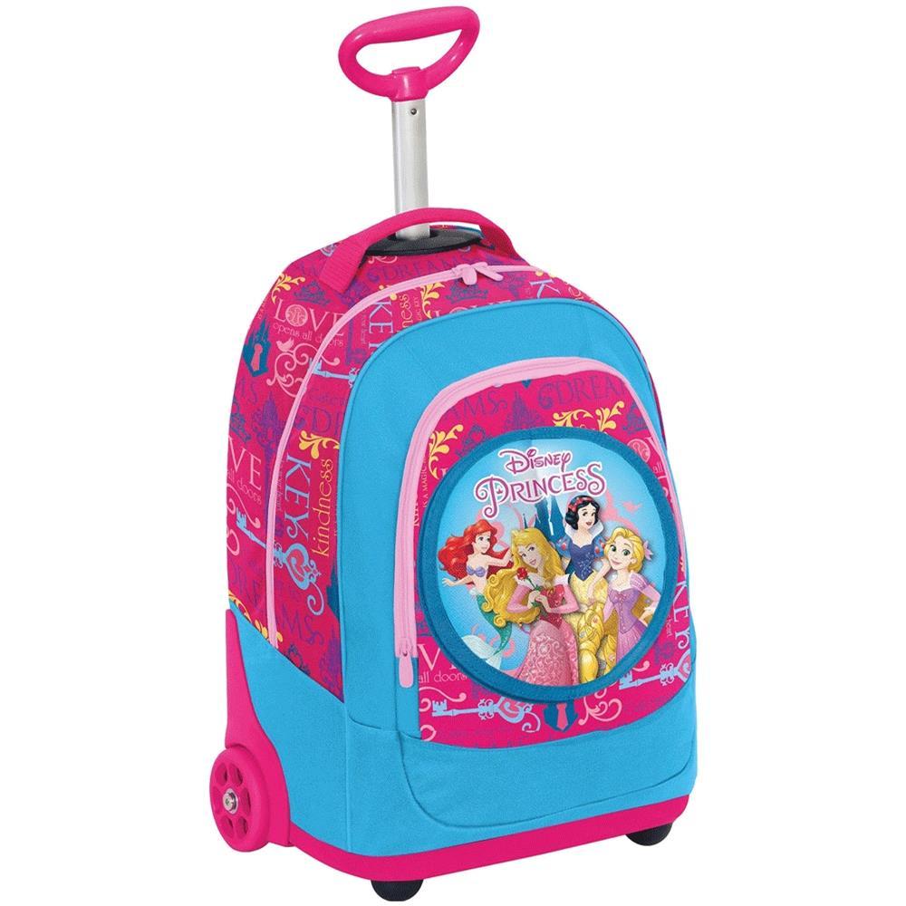 80f9e11fc7 TrAdE shop Traesio® - Zaino Trolley Principesse Disney 2 Ruote Con Pattina  Elementari Bambine - ePRICE