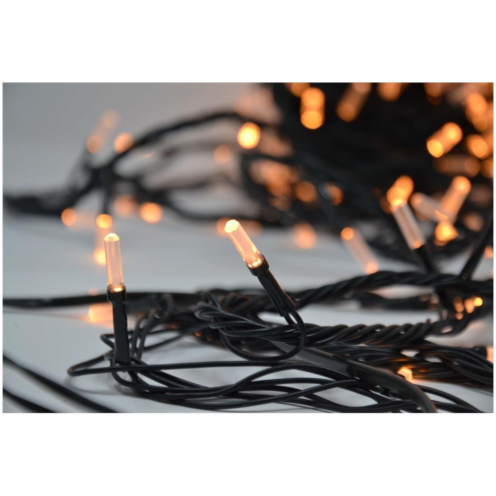 Foto Di Luci Di Natale.Crylight Catena Di Luci Di Natale 500 Led Luce Bianca Calda Con Controller 8 Modalita Di Illuminazione