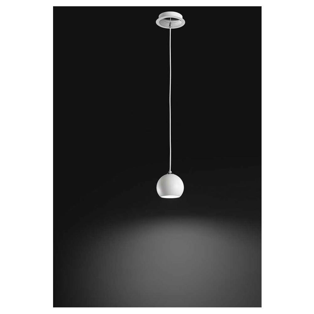 PERENZ Sospensione Moderna Lampadario Da Cucina In Metallo Bianco Ø 11.5cm  H 250cm; Lampadine: 1 X Gu10 Max 35w