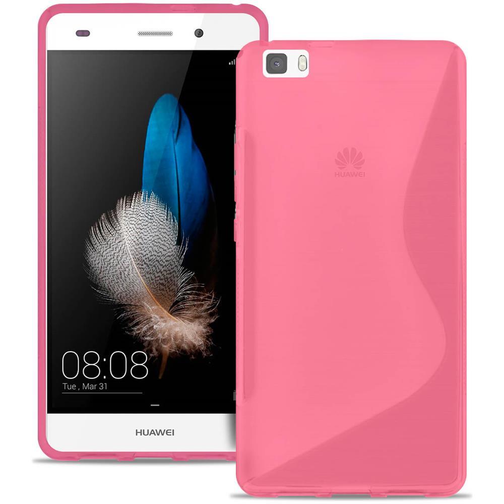 United Case Custodia Per Cellulare Antiurto In Gomma Per Paraurti Huawei P8 Lite, Gomma Fantasia Rosa