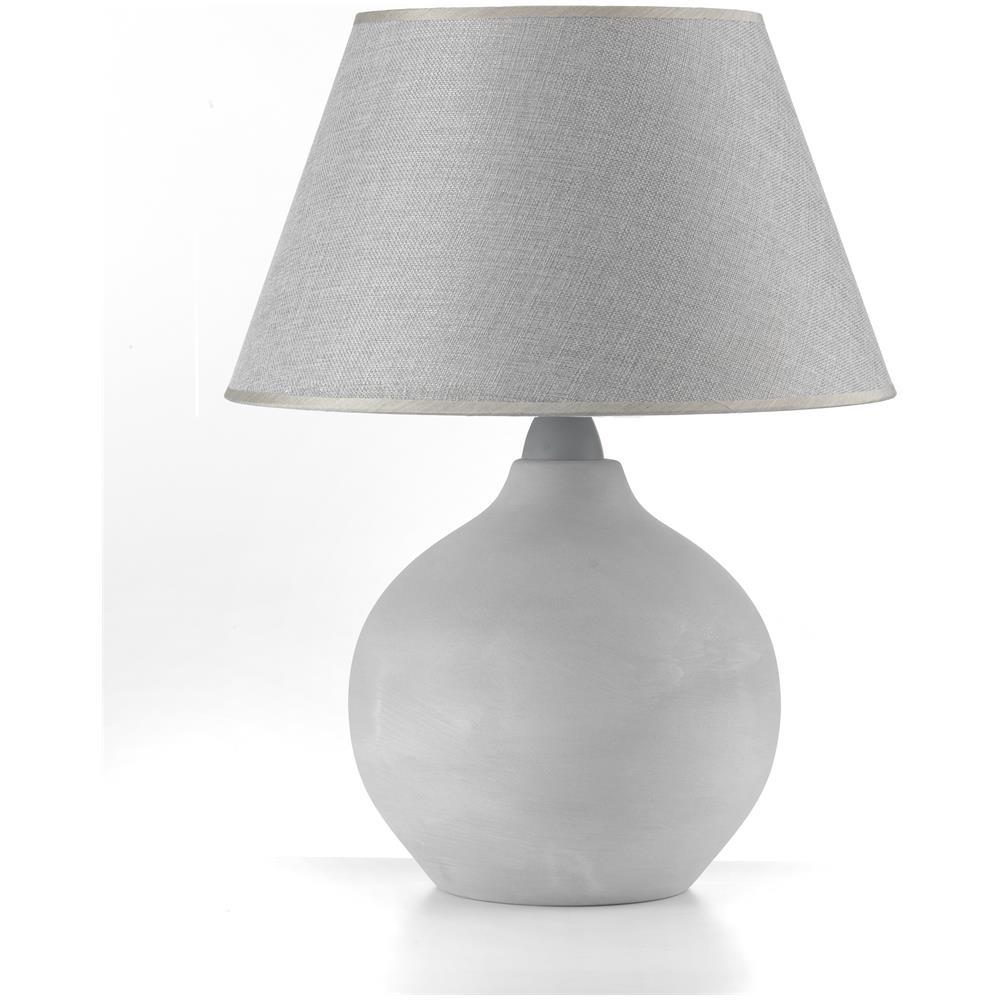 Onli Lampada Da Tavolo Moderna In Ceramica Con Base Sferica Di Colore Grigio Eprice