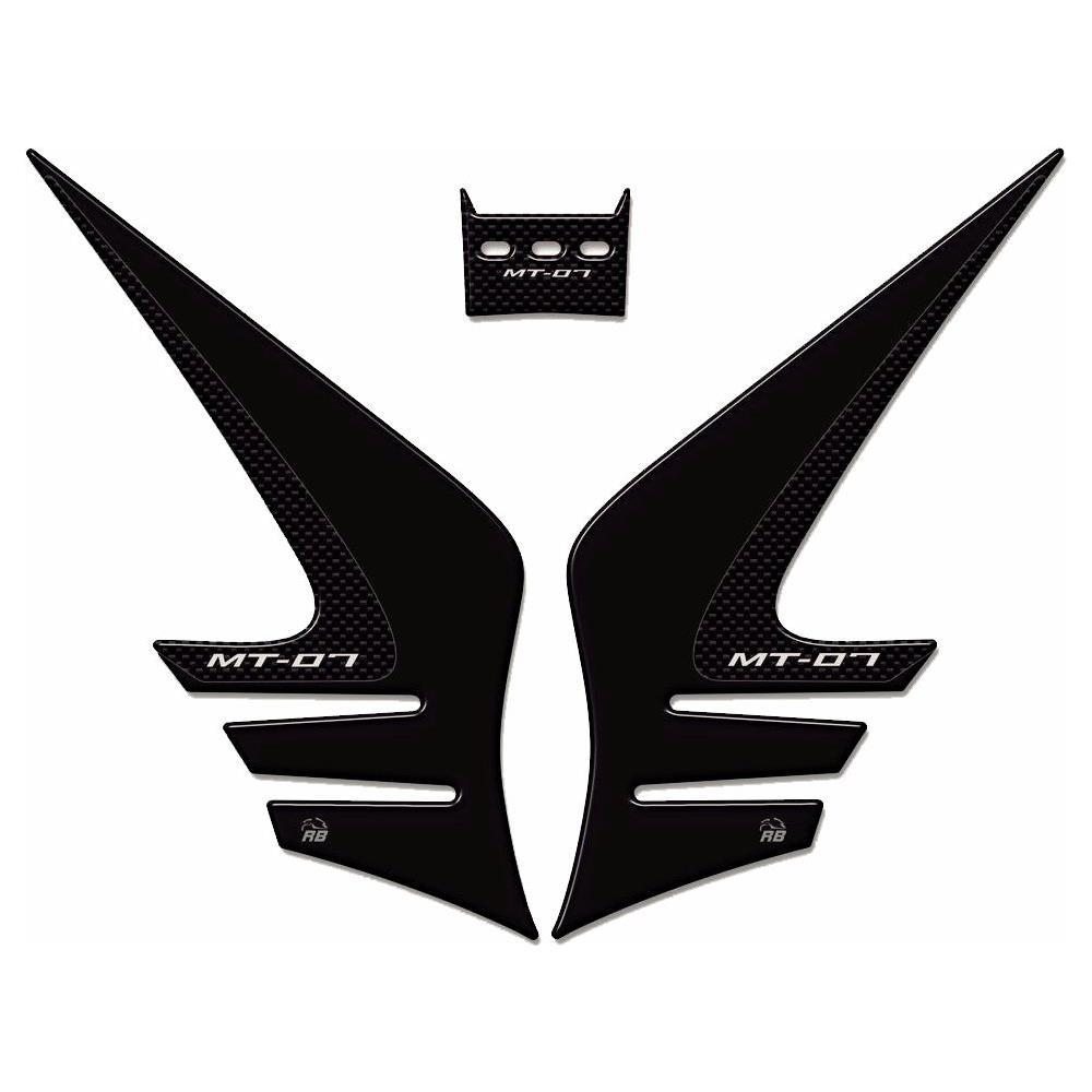 ADESIVO SERBATOIO in RESINA Sticker 3D compatibie per moto YAMAHA MT-07 Carbon