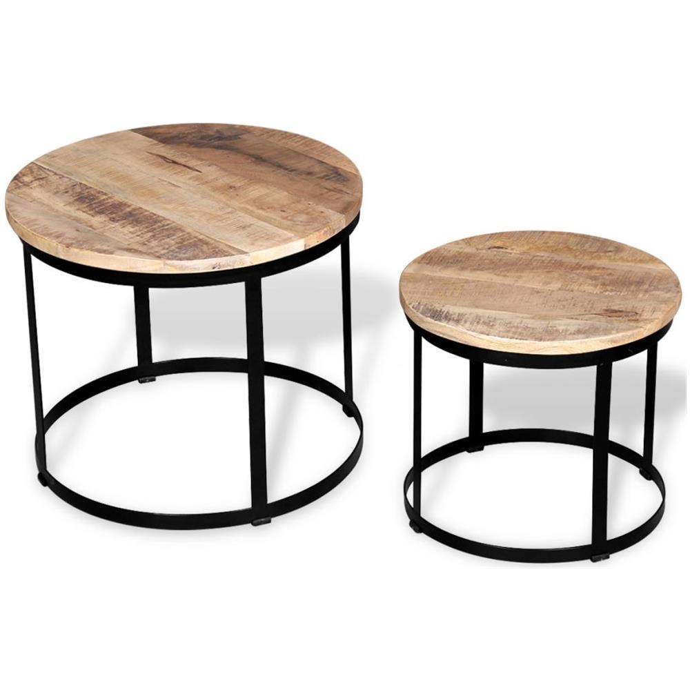 Metallo Truciolare Melaminico Noce Homemania Tavolino da caff/è
