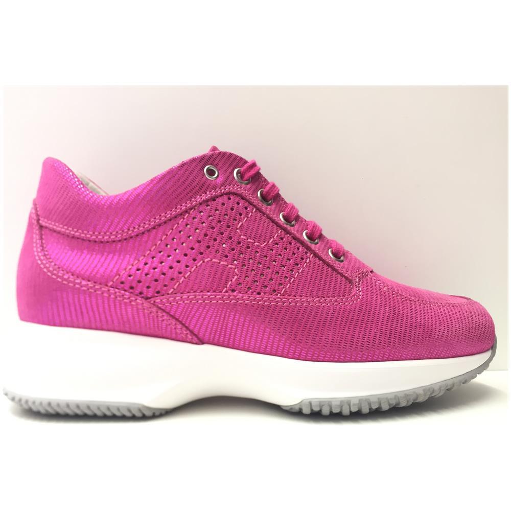 HOGAN Scarpe Sneakers Donna Hogan Hxw00n00e30btbm890 Interactive Pelle Originale Pe Taglia 38 Colore Rosa
