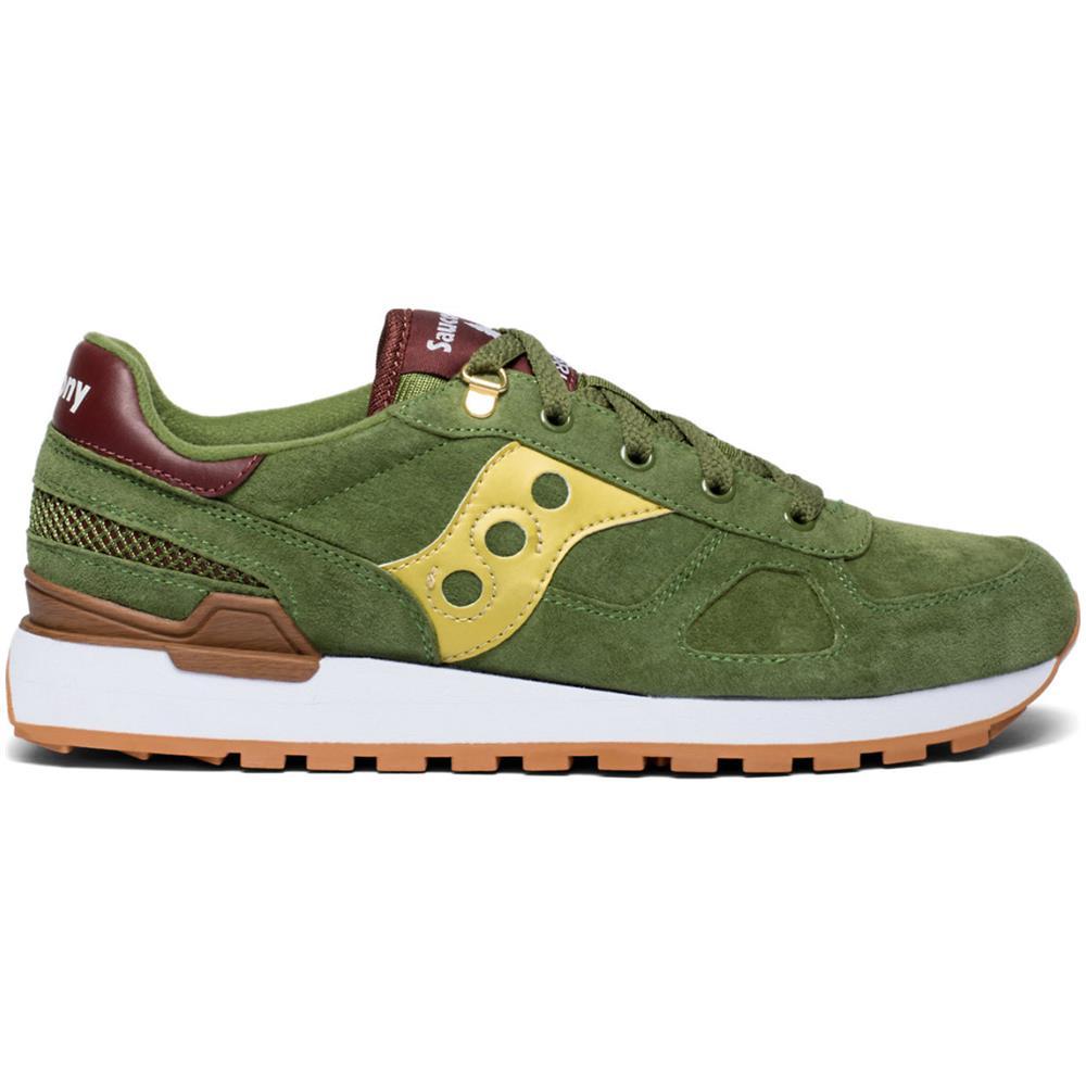 nuovo prodotto e77e0 879ff SAUCONY - Shadow Original Suede Ranger Scarpe Sneakers Uomo Green ...