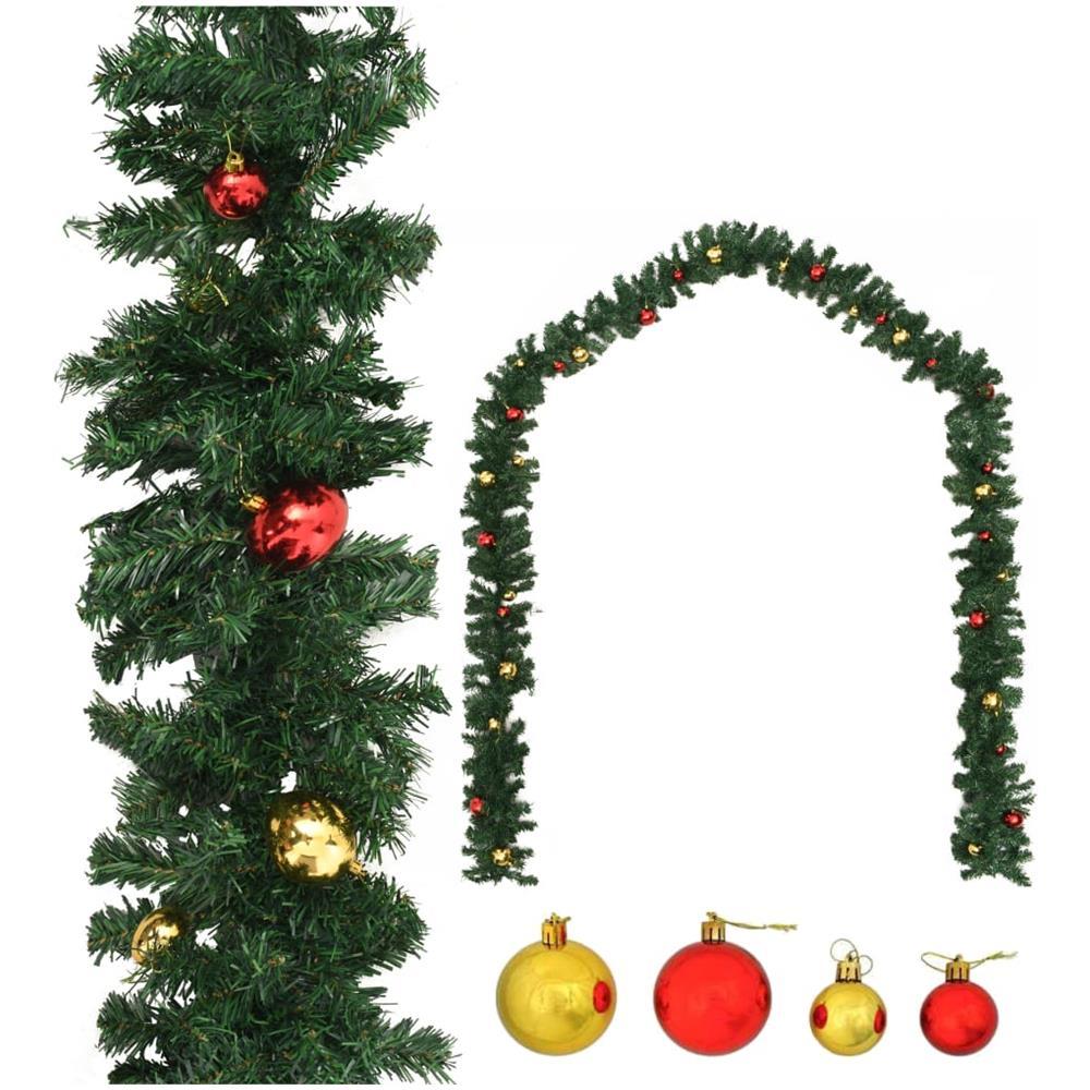 Albero Di Natale Decorato Con Foto.Vidaxl Ghirlanda Di Natale Decorata Con Palline 10 M Eprice