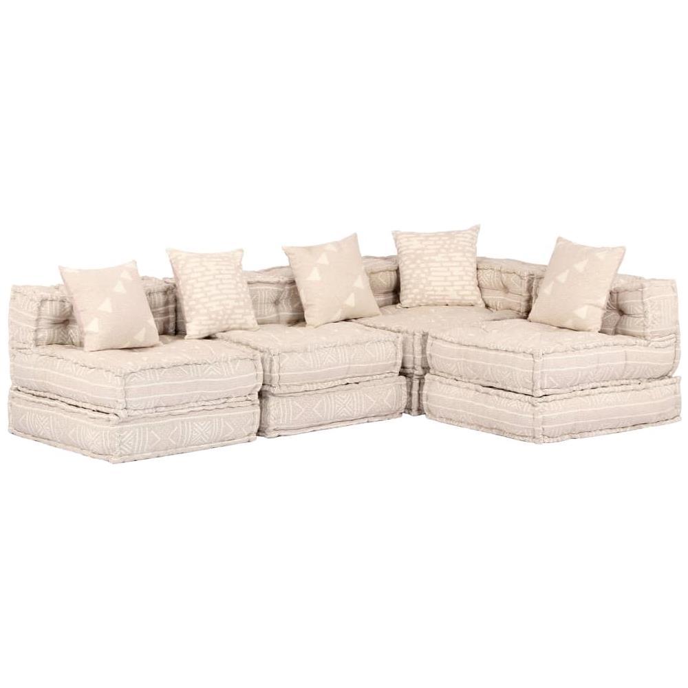 vidaXL Divano letto design moderno regolabile salotto sofa soggiorno beige