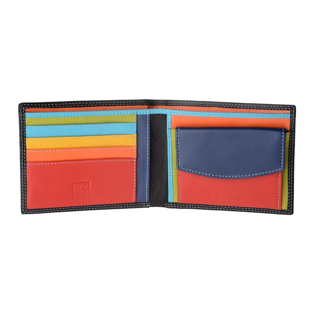 84bb4364b7 DuDu - Portafoglio Uomo In Pelle Nappa Colorato Con Portamonete E Porta  Carte Dudu Nero - ePRICE