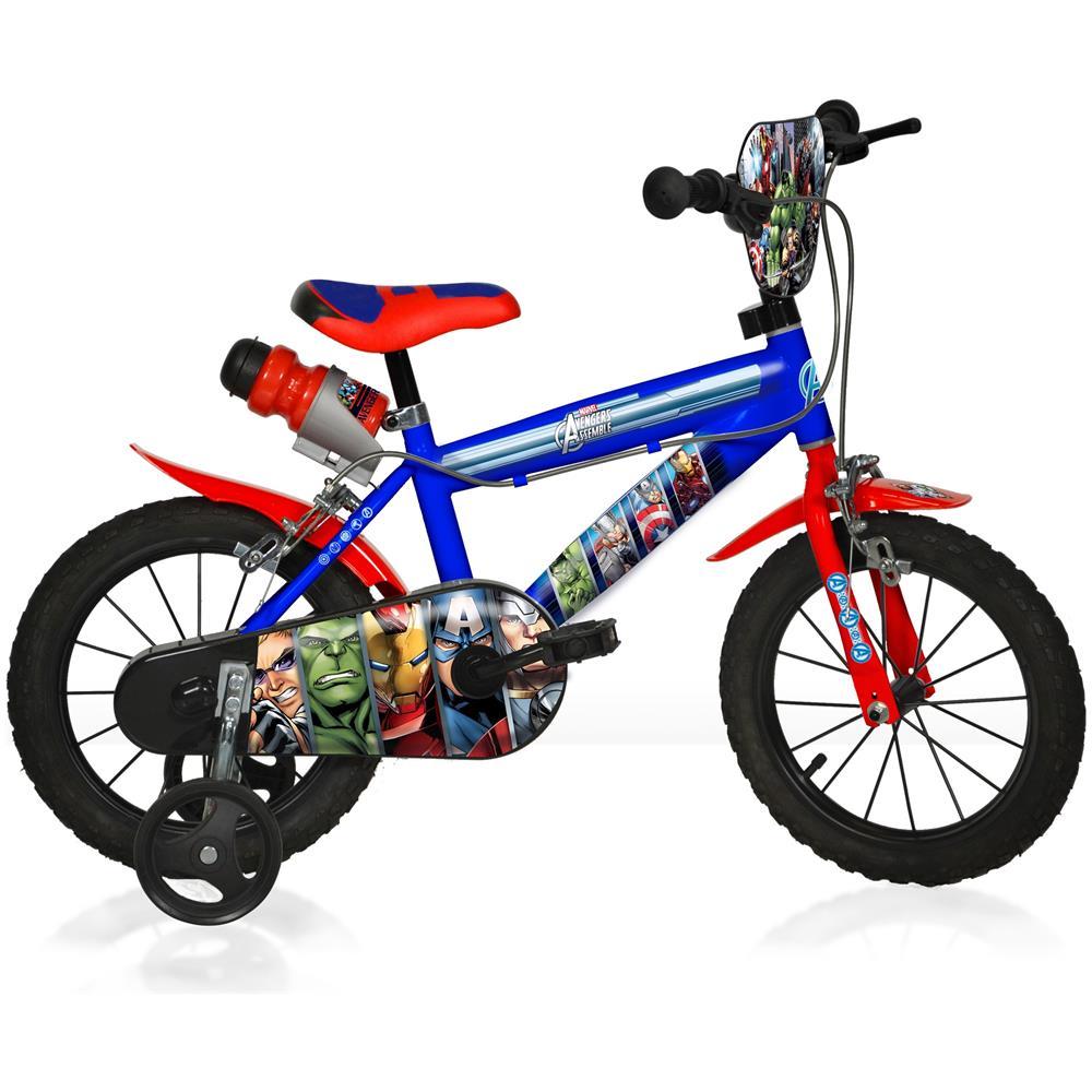 Dino Bikes Bicicletta Bambino Avengers 16 Pollici Ruotine Con