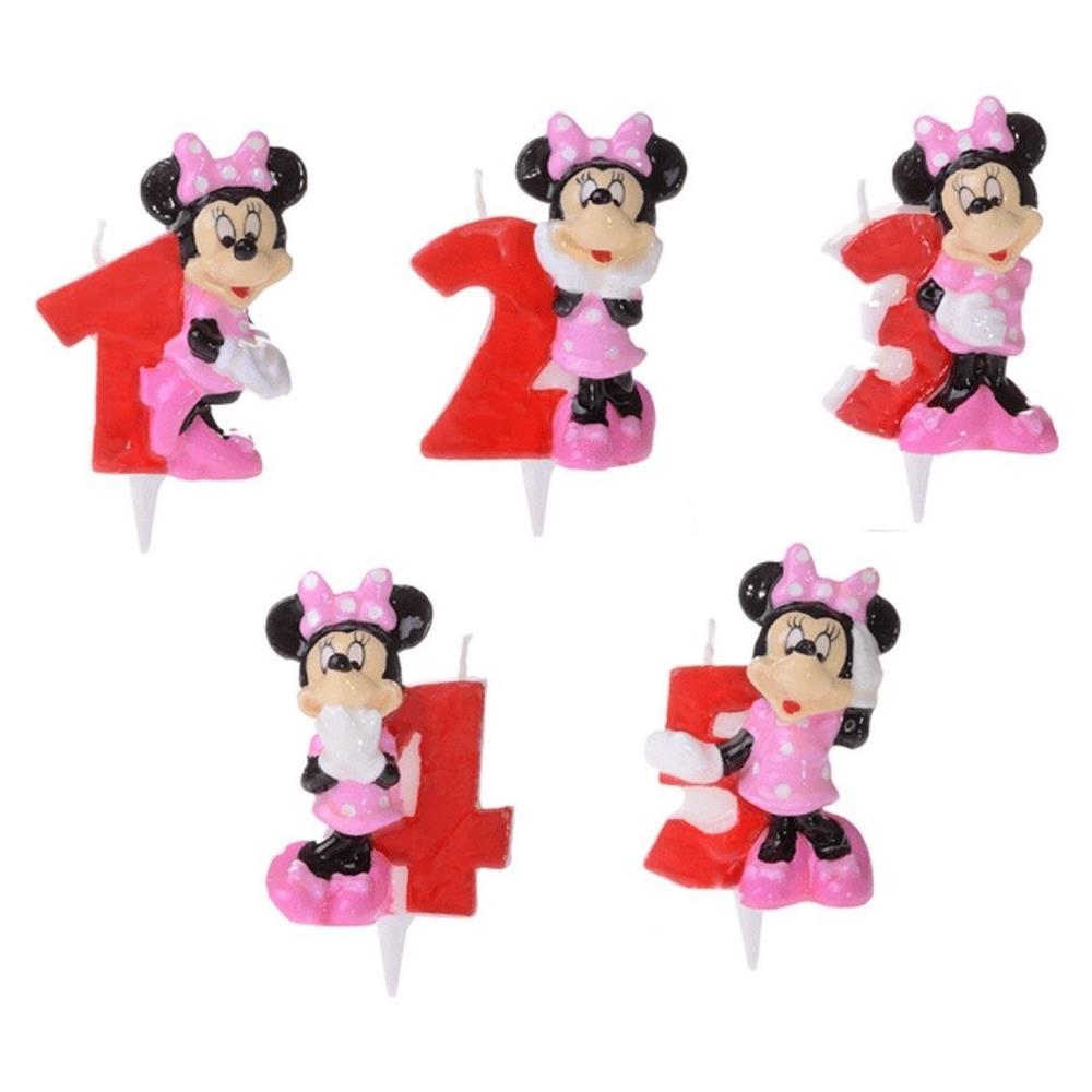 Modecor Italiana Candela Numerale Minnie Disney Per Torta Di