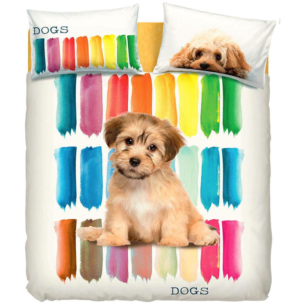 Copripiumino Bassetti Letto Singolo.Bassetti Completo Copripiumino Color Dogs Di Bassetti