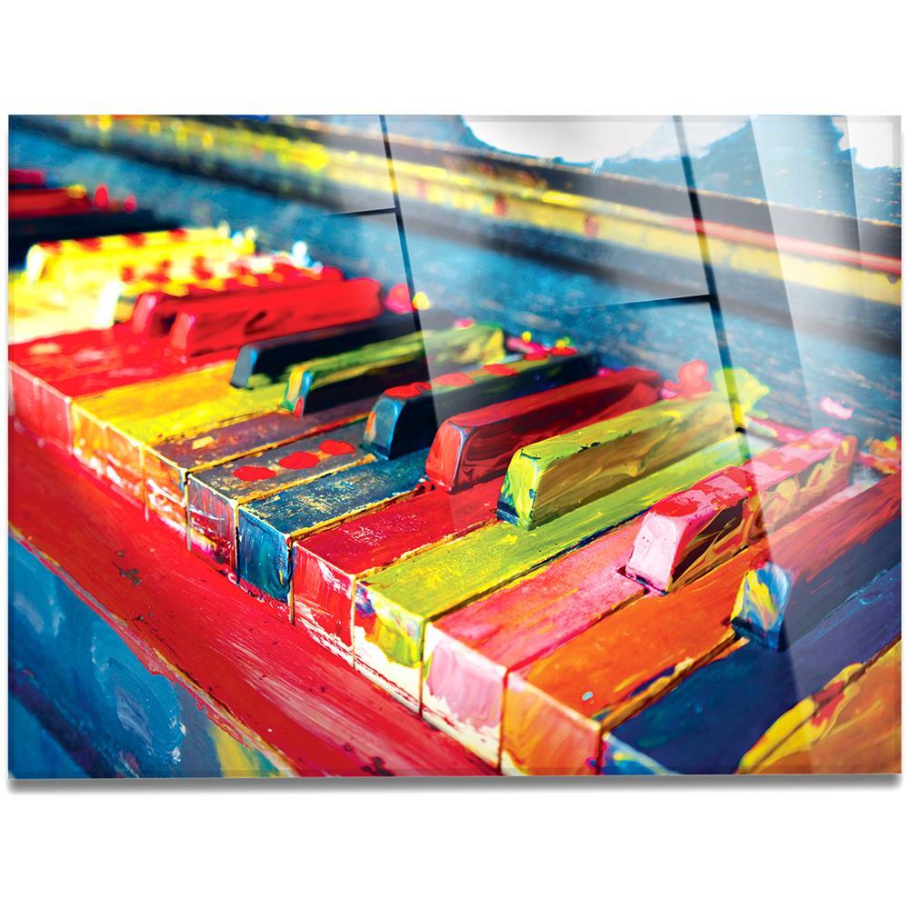 Quadri Moderni Roma Vendita giallobus quadro pronto da appendere - stampa su vetro acrilico plexiglass  - pianoforte colorato - quadri moderni arredo casa design - vari formati