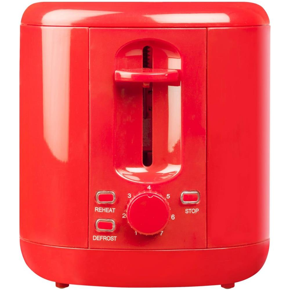 Bestron ATS300HR Tostapane, Rosso Rosso