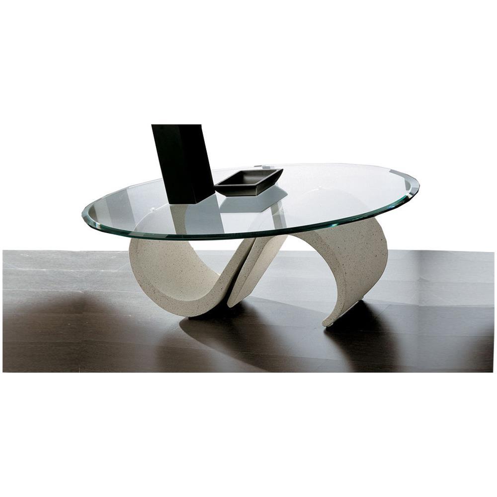 Primavera Tavolino Da Salotto In Vetro - Prmara-b Rettangolare Liscio