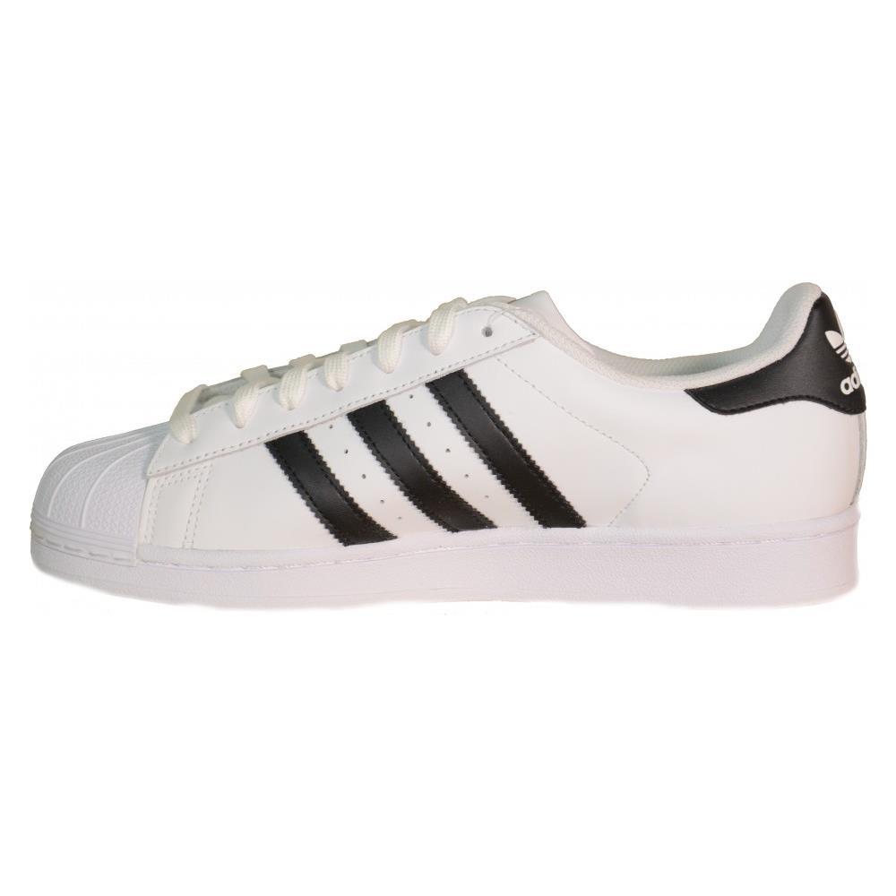 wholesale dealer 0e884 aca50 Adidas Superstar Scarpe Bianche Unisex Pelle C77124 36
