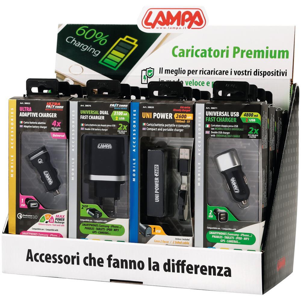 LAMPA Espositore Da Banco In Cartone, Caricatori Premium