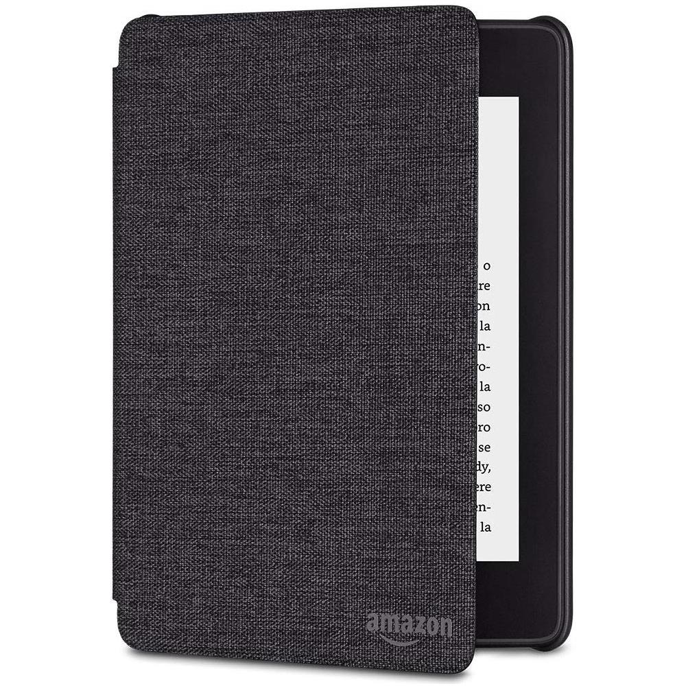 Custodia per Kindle Paperwhite modello 2018 Tessuto Nero Antracite