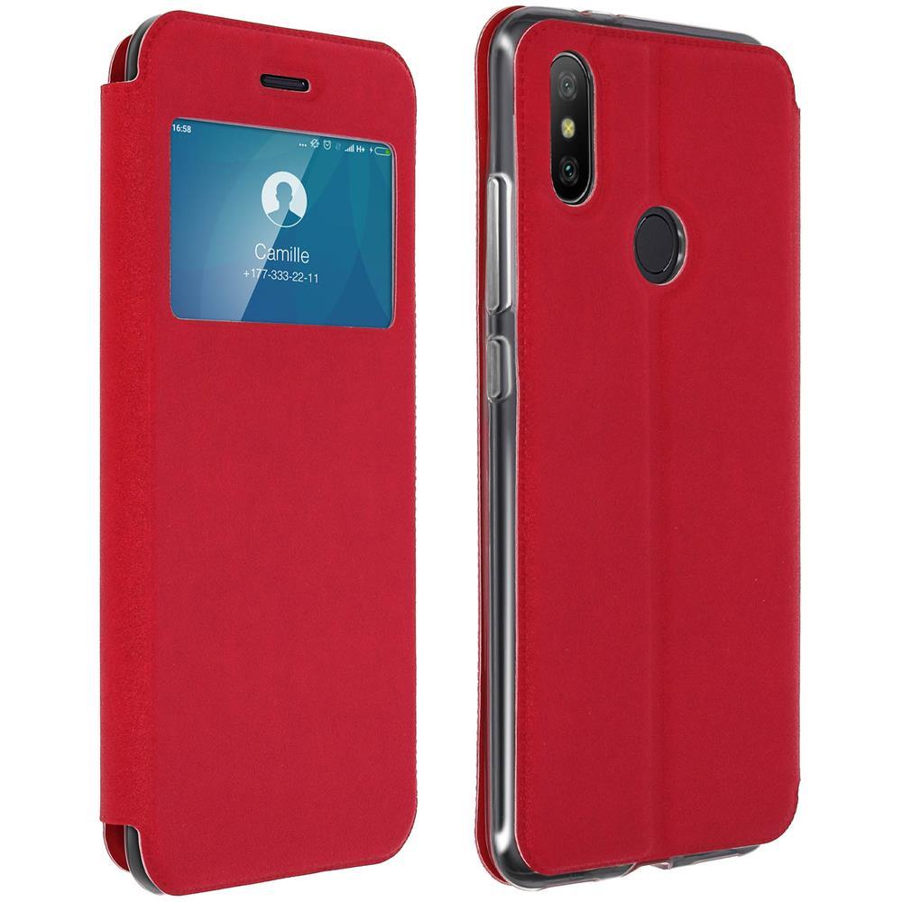 Avizar - Custodia Iphone Xr Finestra Porta-carte Cover Silicone