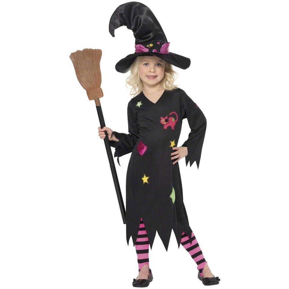 promozione preordinare 2019 autentico JADEO Costume Da Bambina Strega Gatto Halloween 3 A 4 Anni