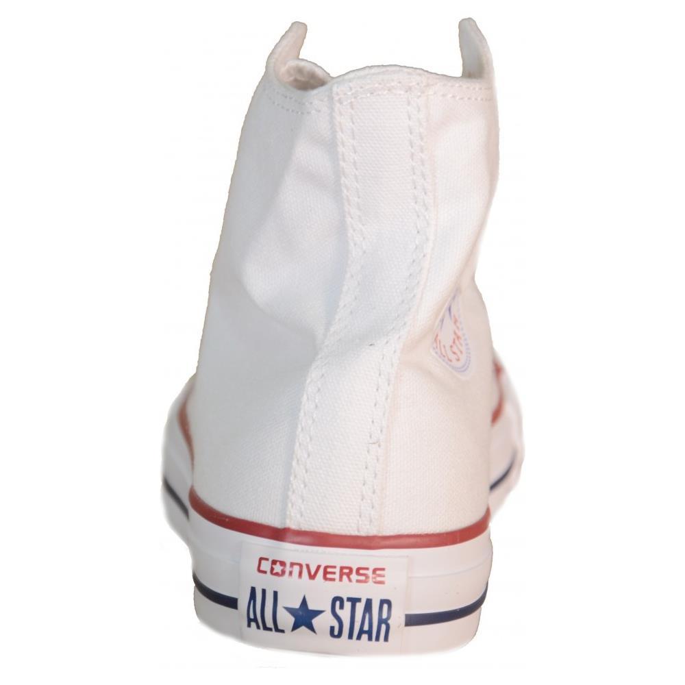 b8ef53afd7c541 Converse All Star Hi Optic White Scarpe Uomo Donna Bianche Alte Tela 7650  numero 46