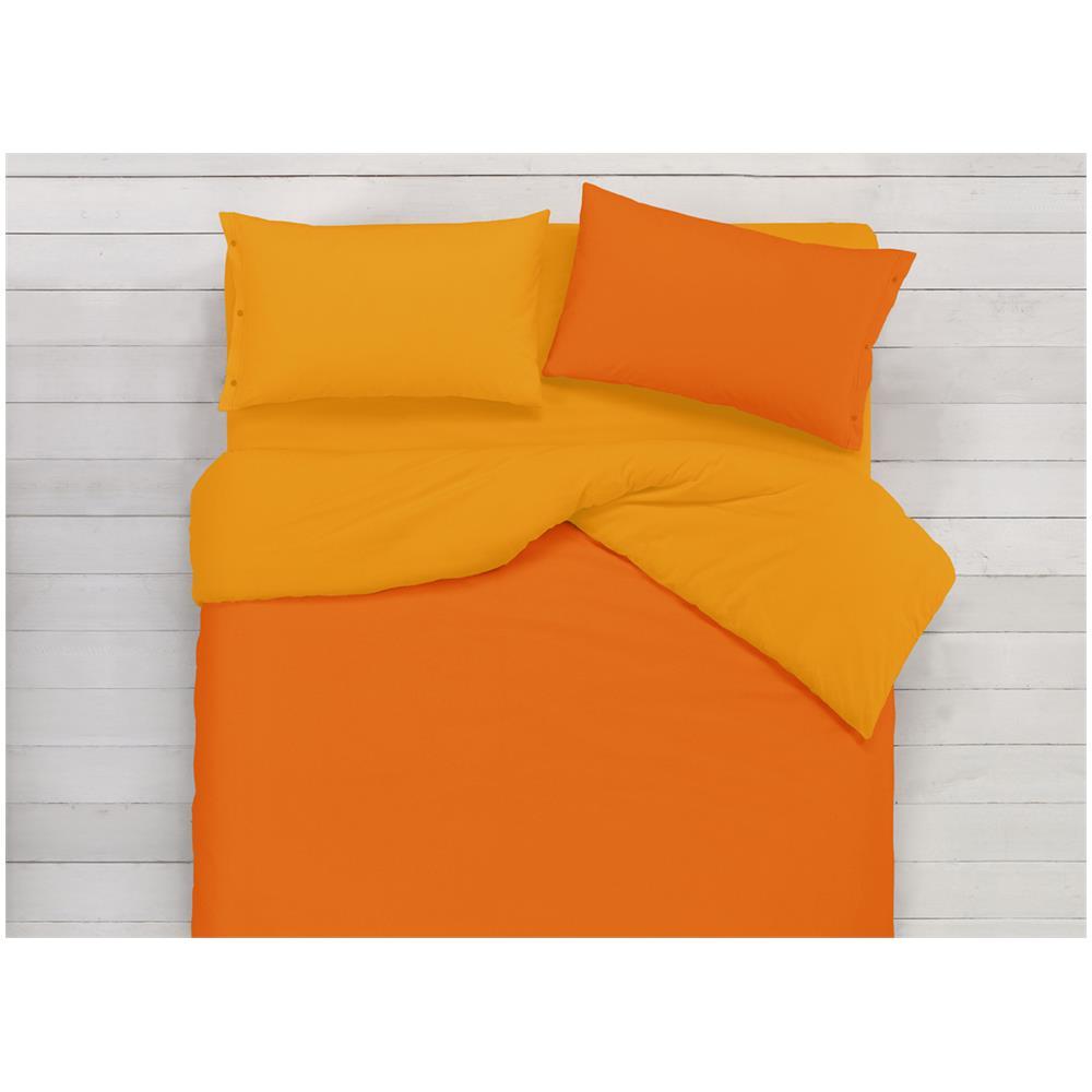 b6ec3cce46 BIANCHERIA WEB - Copripiumino In 100% Cotone Double Face Arancione ...