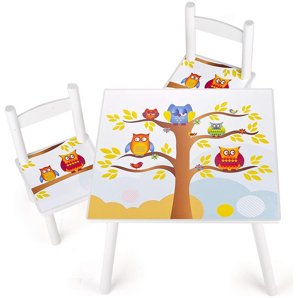 Sedie E Tavoli In Legno Per Bambini.Leomark Tavolino Sedie Set Cameretta Per Bambini Tavolo E 2 Sedie