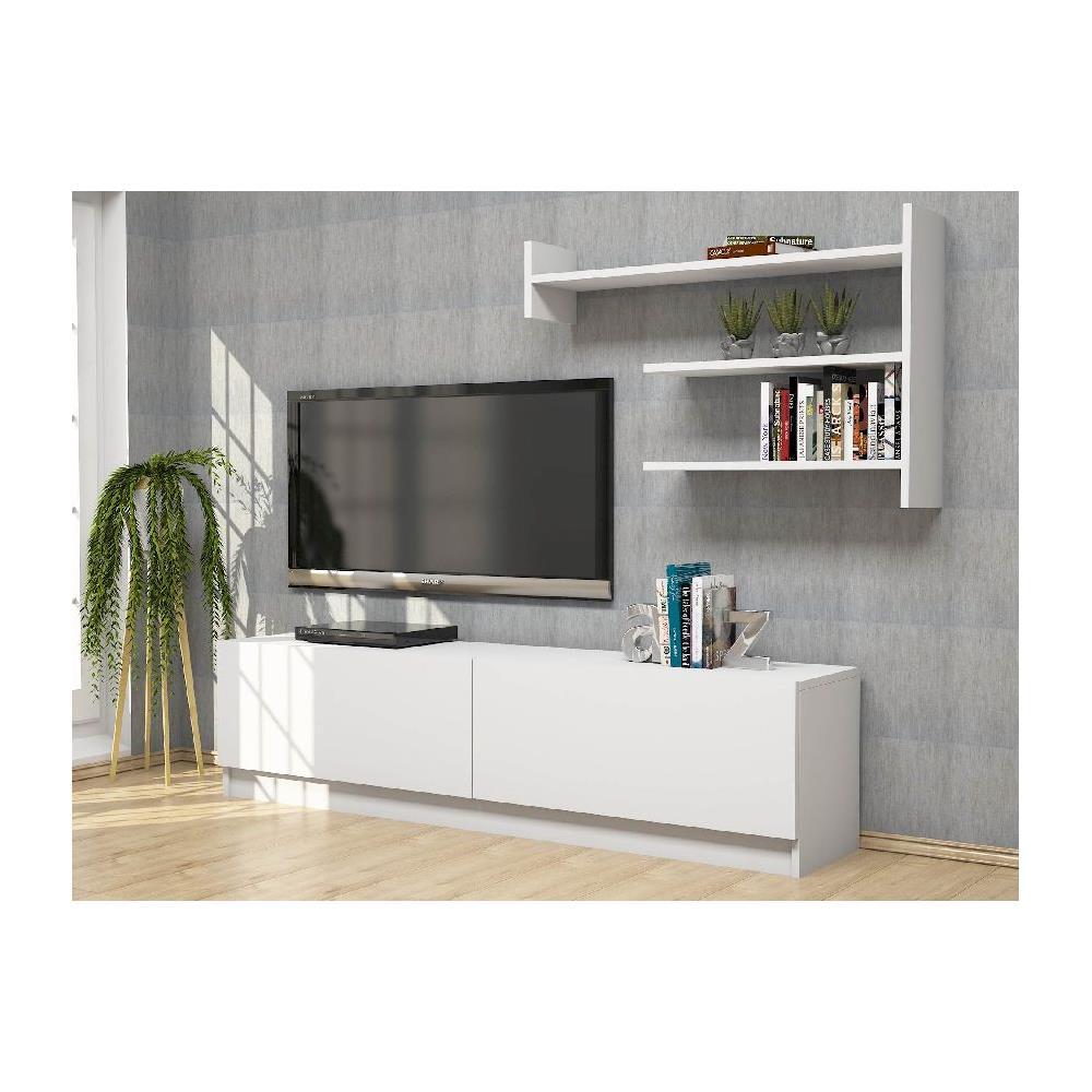 Homemania Mobile Porta Tv Cd In Legno Supporto Ripiani Mensole Martin  Bianco - Casa Arredo Design - Per Salotto, Soggiorno - Porta, Mensole, ...