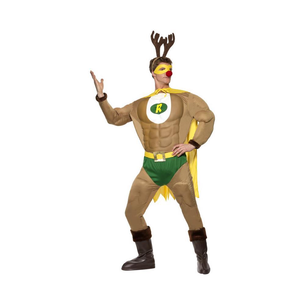 e40f241740 JADEO - Costume Umoristico Renna Natale Medium - ePRICE