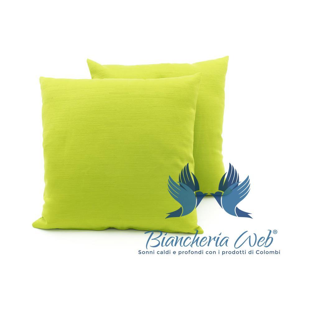 dbc005ba56 BIANCHERIA WEB - Coppia Cuscini Arredo Imbottiti Tessuto Ottoman In Tinta  Unita Colore Verde 29 50x50 Verde 29 - ePRICE