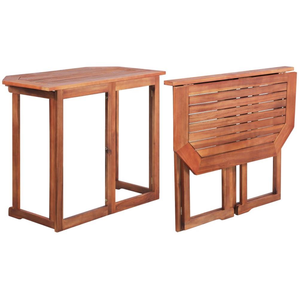 Tavoli Pieghevoli Da Terrazzo.Vidaxl Tavolo Da Balcone In Legno Massello Di Acacia 90x50x75 Cm Eprice