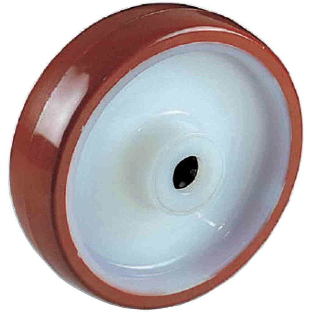 Ruote in Nylon Copertura Poliuretano Staffa Girevole Freno d.mm.80 Portata Kg100