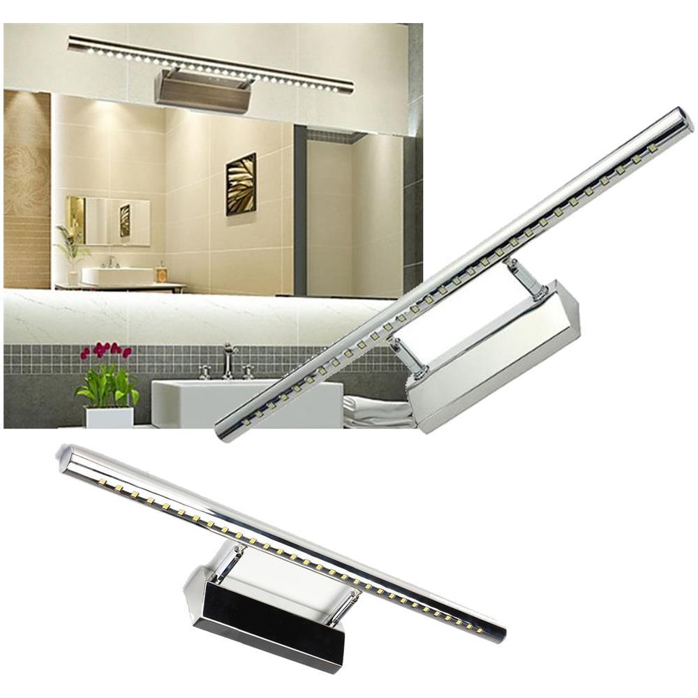 TradeShopTraesio® Applique Lampada Per Specchio Bagno Da Parete Con 30 Led  Luce Bianco Freddo