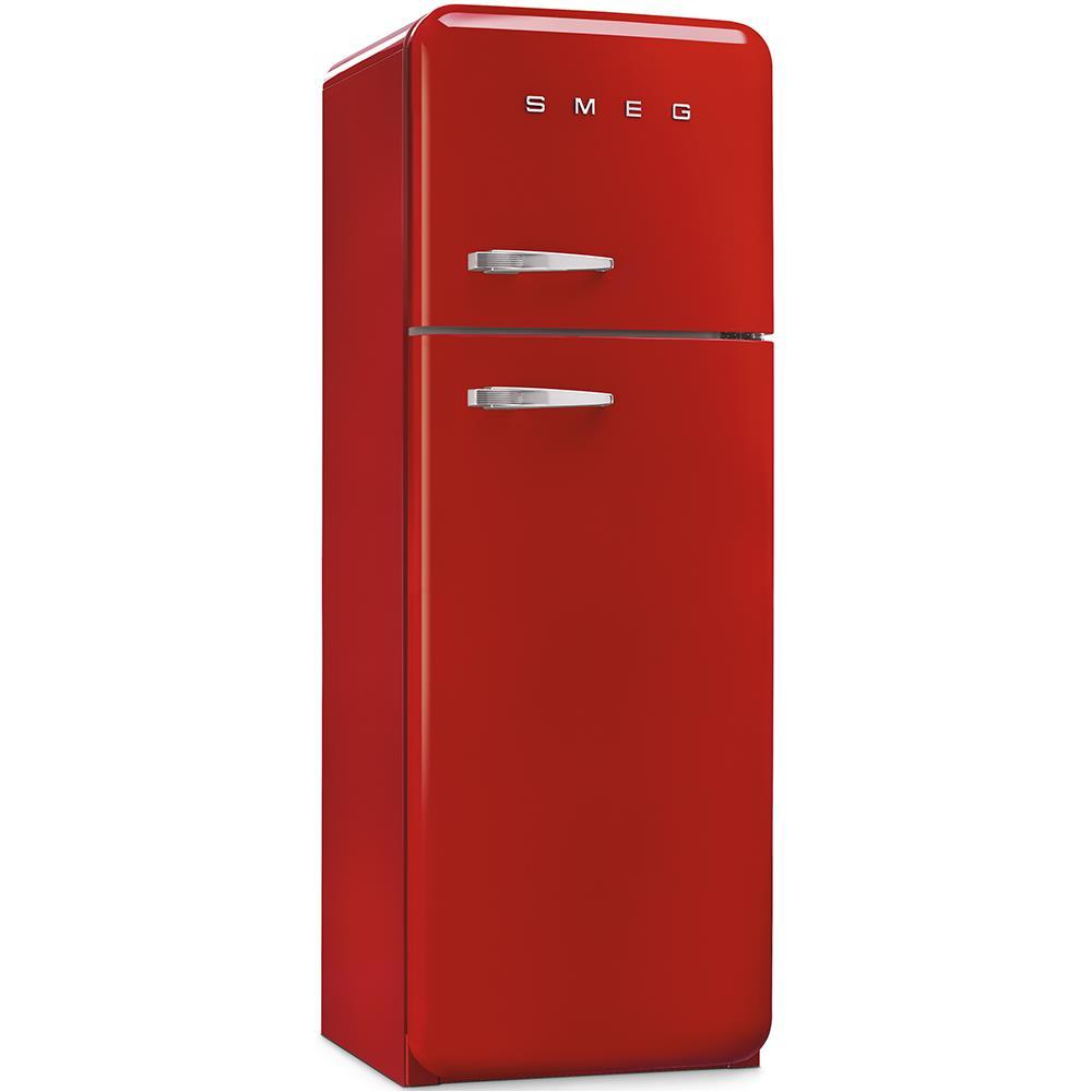 SMEG Frigorifero Doppia Porta FAB30RR1 Anni\'50 Classe A++ Capacità Lorda /  Netta 295/293 Litri Colore Rosso