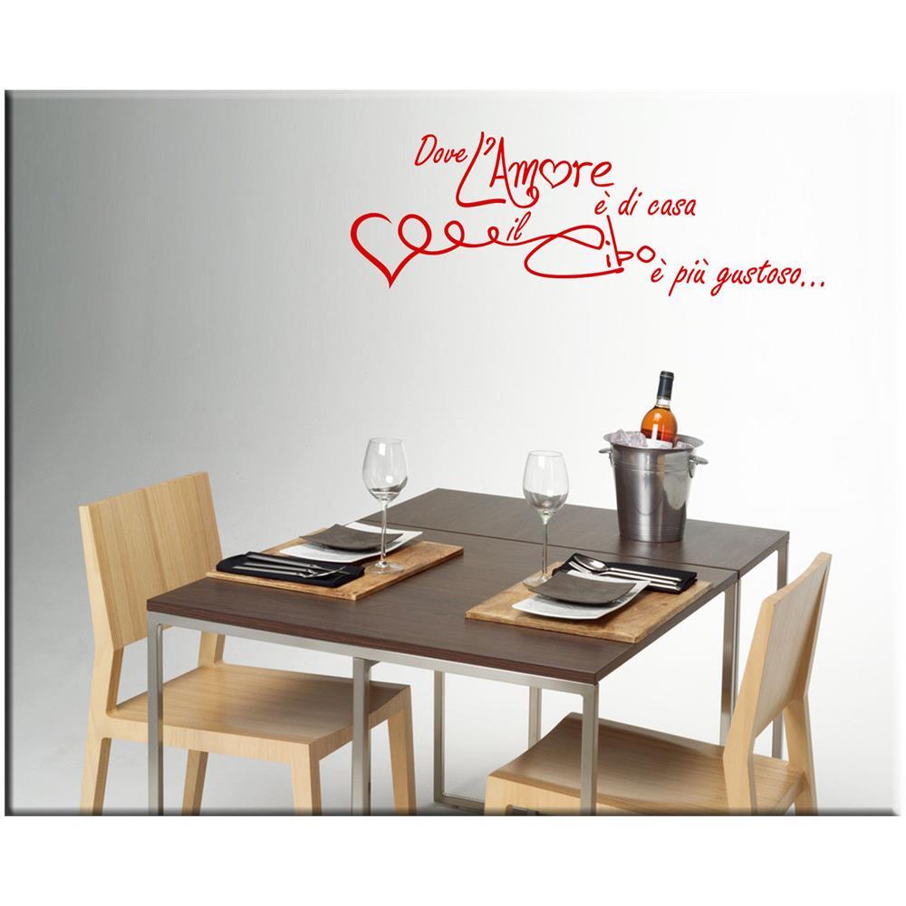 PIXEL COMUNICAZIONE - Wall-sticker Adesivo Murale Frasi Muro Cucina ...