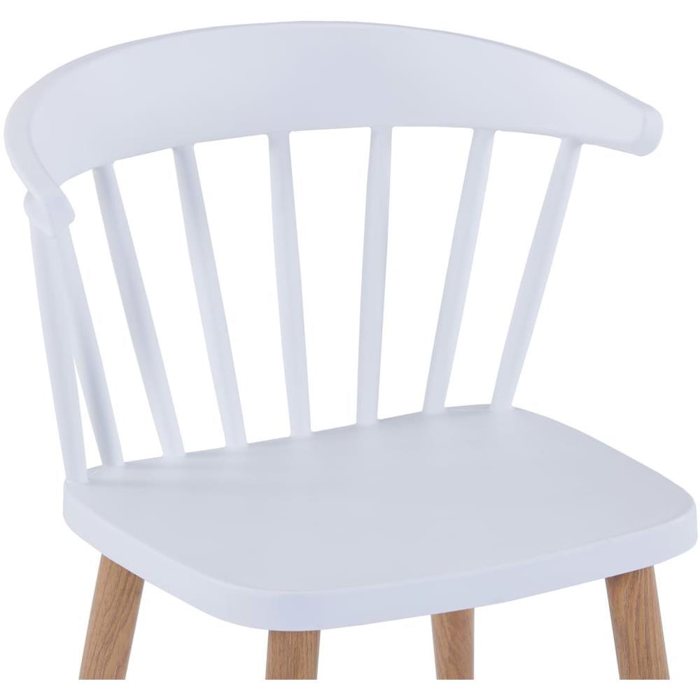 VIDAXL Sedie Da Pranzo 6 Pz Bianche In Plastica E Acciaio