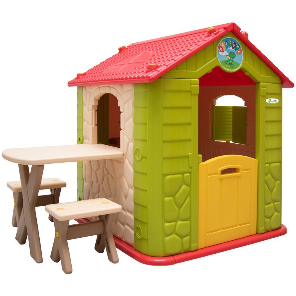 Littletom Casetta Gioco Per Bambini E Bambine Incl 1 Tavolo 2 Sgabelli Casa Di Plastica Per Interni Eprice