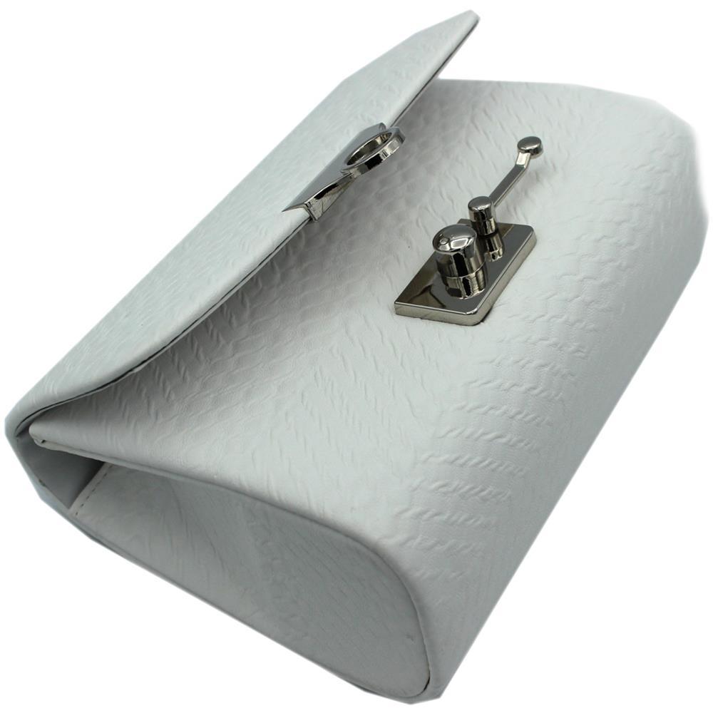 82833252be MICHELLE MOON Borsetta Donna Pochette Da Sera Clutch In Similpelle Hl3140  Bianco