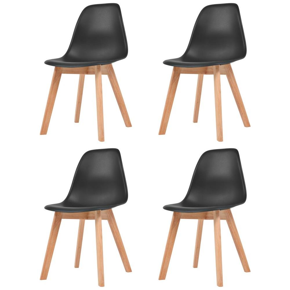 VIDAXL - Set 4 Pz Sedie Per Sala Da Pranzo Nere - ePRICE