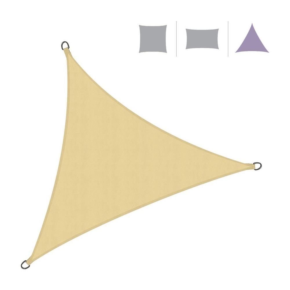 Vela Triangolare Da Giardino mobili rebecca rebecca mobili vela parasole telo ombreggiante triangolare  beige polietilene protezione raggi solari giardino campeggio 5x5x5