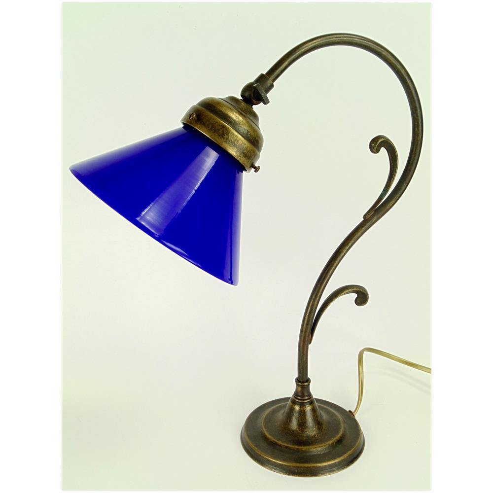 Fd Bolletta M37 Lampada Da Tavolo In Ottone Brunito E Paralume In Vetro H 36 5cm Eprice