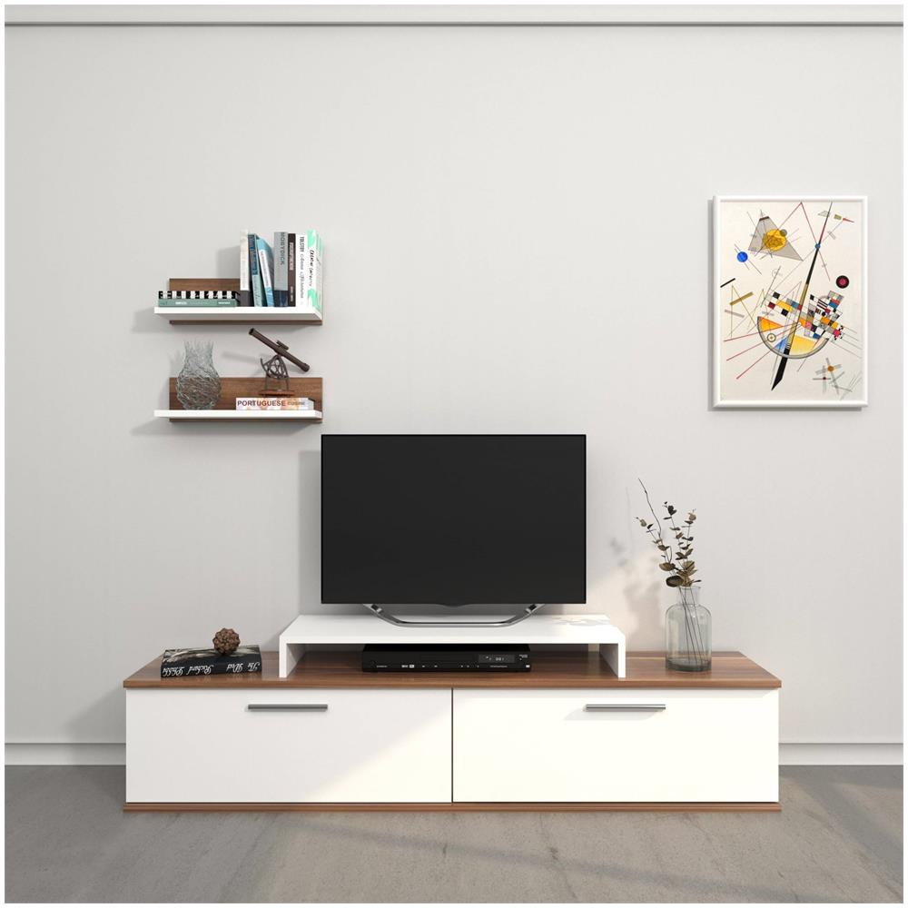 Mobili E Supporti Tv.Home Mania Mobile Porta Tv Norma Bianco Wenge Eprice