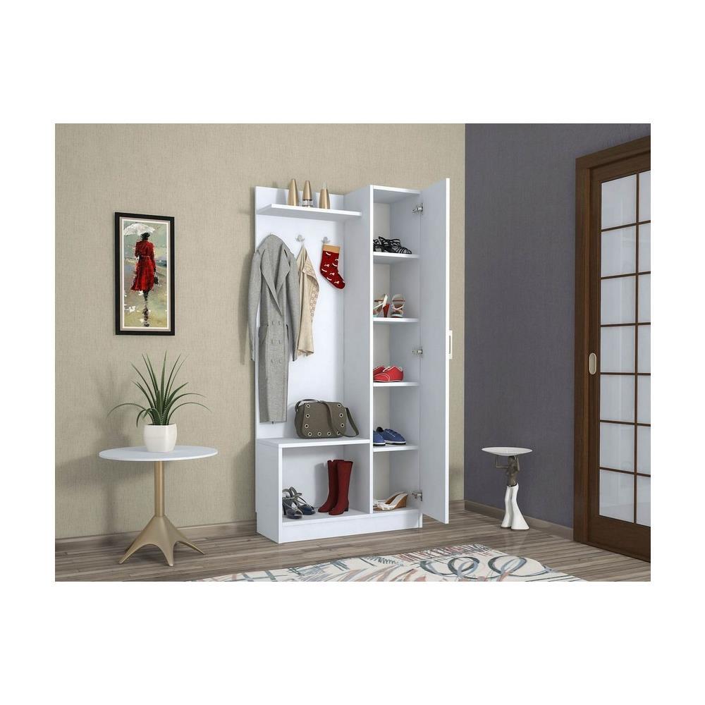Dimensioni Porta Ingresso Casa homemania mobile ingresso mensola attaccapanni appendiabiti orion noce -  casa arredo design - per entrata, abiti - appendiabiti, armadio -