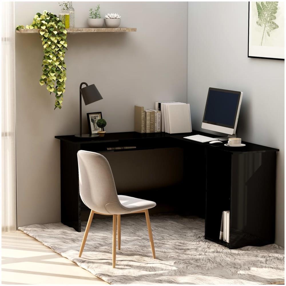 vidaXL Scrivania ad Angolo a L per Computer Casa Lavoro Ufficio Tavolo PC Nera
