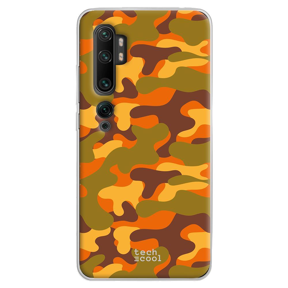 Techcool Cover, Custodia Per Huawei P40 Lite L Silicone Arancione Camuffamento