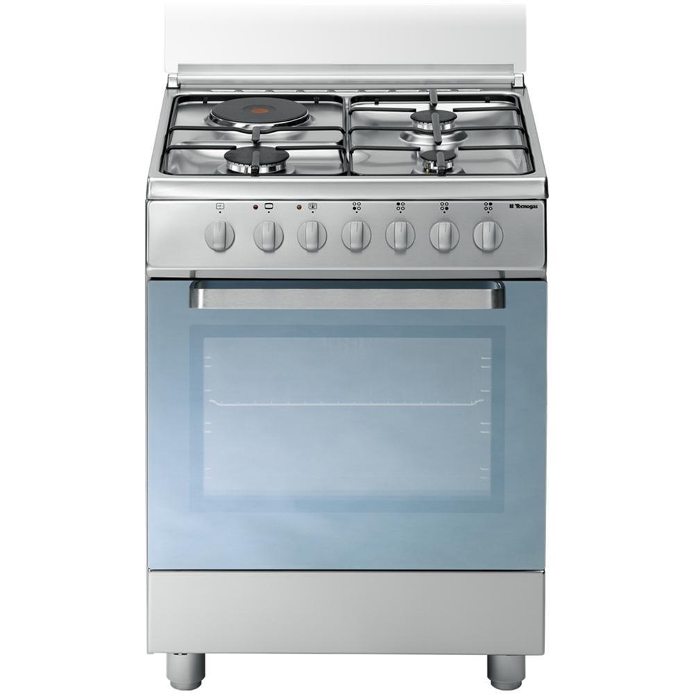 TECNOGAS - D61XS Cucina a Gas con Piastra Elettrica e Forno ...