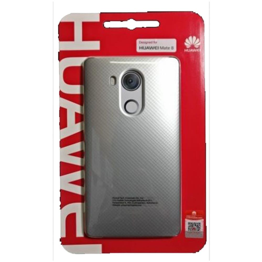 HUAWEI Custodia Back Pc Cover Case Plastica Retro Argento Originale Huawei Per Mate 8