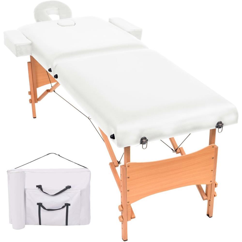 Lettino Massaggio Professionale Pieghevole.Vidaxl Lettino Massaggio Pieghevole A 2 Zone Imbottitura 10 Cm