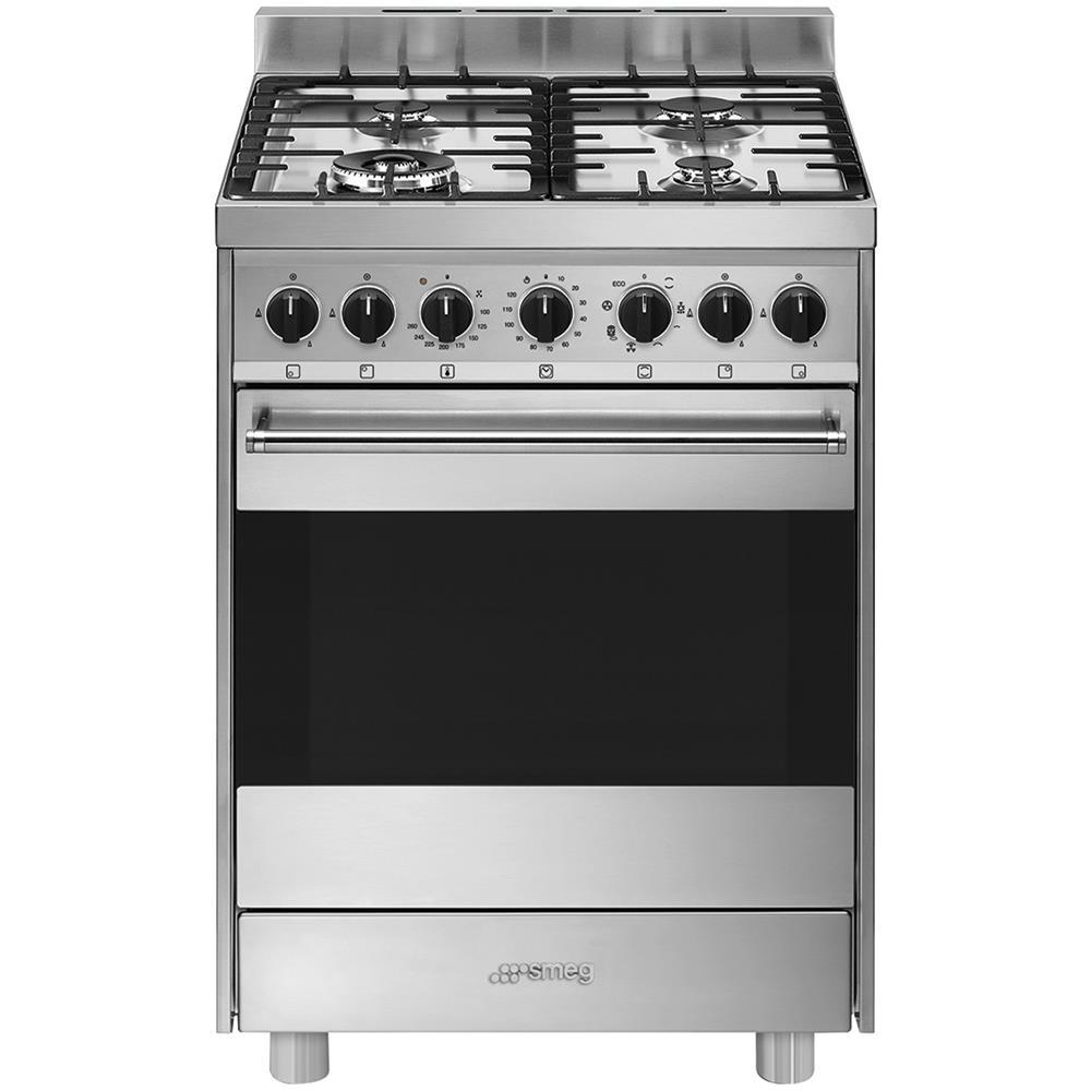 SMEG - Cucina Elettrica B61GMXI9 4 Fuochi a Gas Forno Elettrico ...